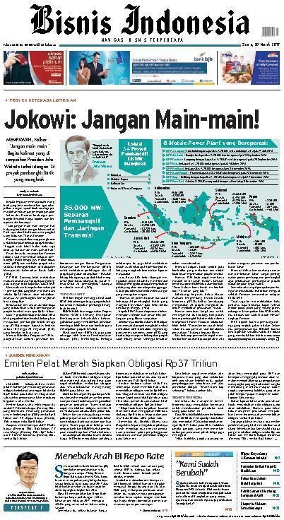 Koran Digital Bisnis Indonesia 20 Maret 2017