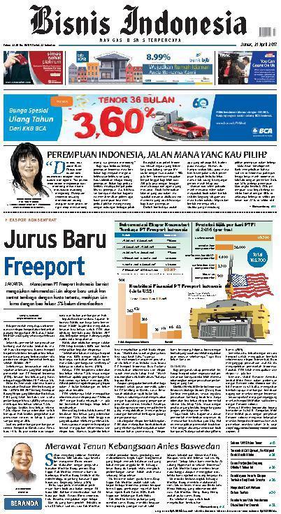 Koran Digital Bisnis Indonesia 21 April 2017