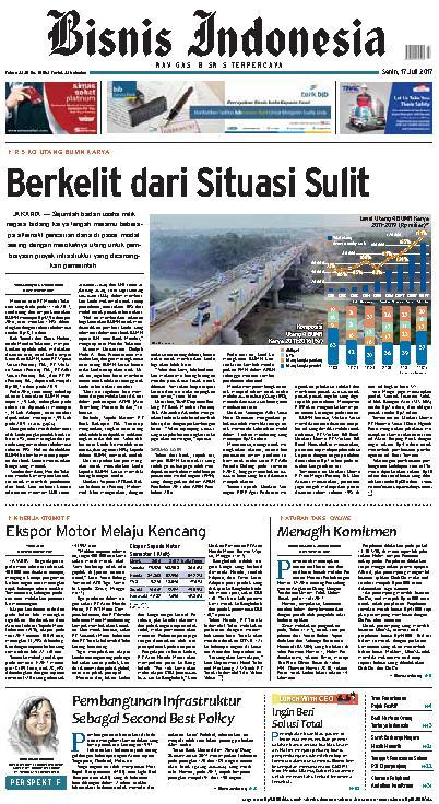 Koran Digital Bisnis Indonesia 17 Juli 2017