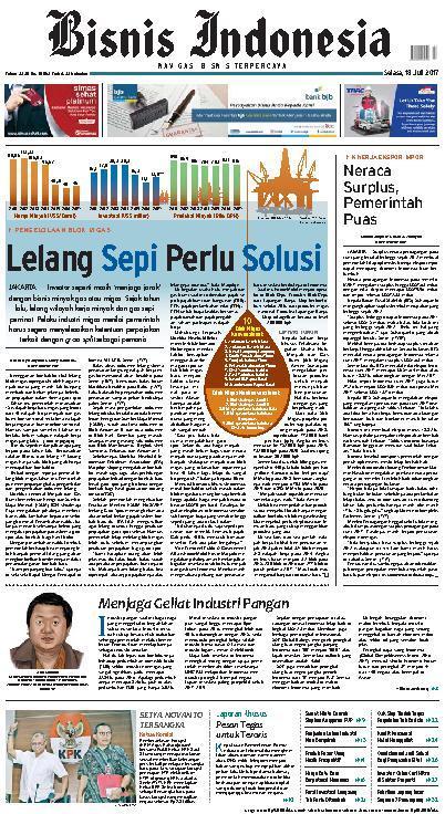 Koran Digital Bisnis Indonesia 18 Juli 2017