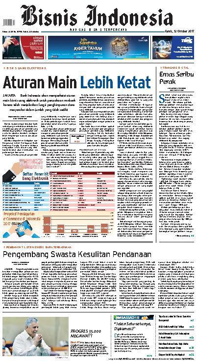 Koran Digital Bisnis Indonesia 12 Oktober 2017