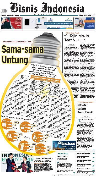Koran Digital Bisnis Indonesia 14 November 2017