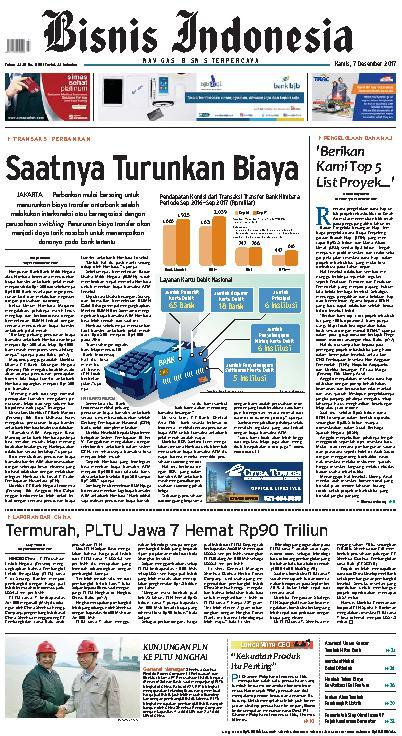 Koran Digital Bisnis Indonesia 07 Desember 2017