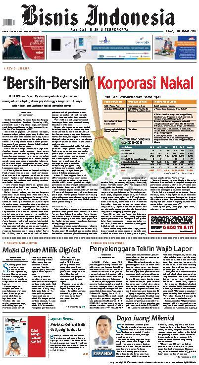 Koran Digital Bisnis Indonesia 08 Desember 2017
