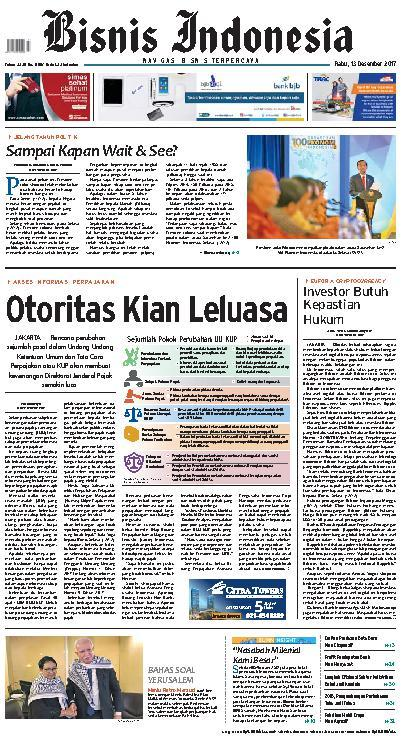 Koran Digital Bisnis Indonesia 13 Desember 2017