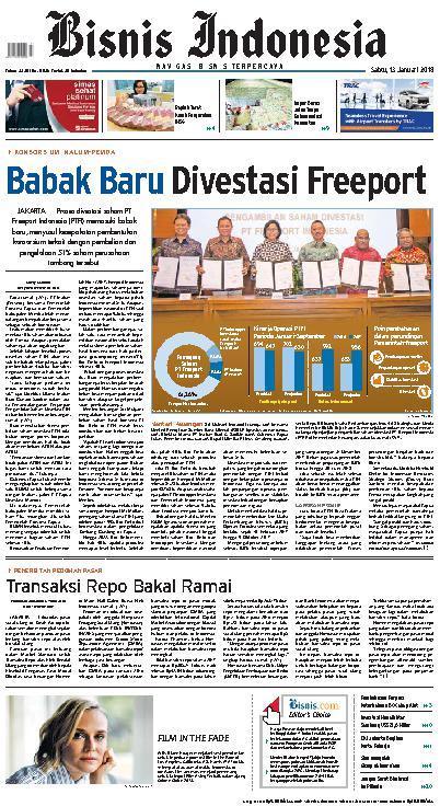 Koran Digital Bisnis Indonesia 13 Januari 2018