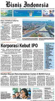 Cover Bisnis Indonesia 13 Maret 2018