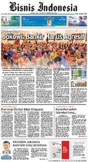 Cover Bisnis Indonesia 16 Maret 2018