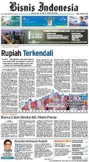Cover Bisnis Indonesia 19 Maret 2018