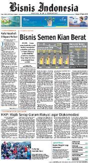 Cover Bisnis Indonesia 20 Maret 2018