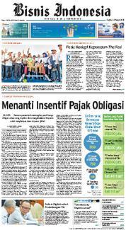 Cover Bisnis Indonesia 22 Maret 2018