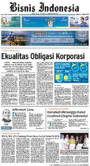 Cover Bisnis Indonesia 23 Maret 2018