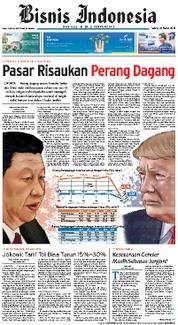 Cover Bisnis Indonesia 24 Maret 2018