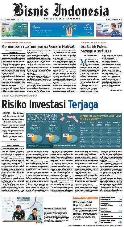 Koran Digital Bisnis Indonesia 21 Maret 2018