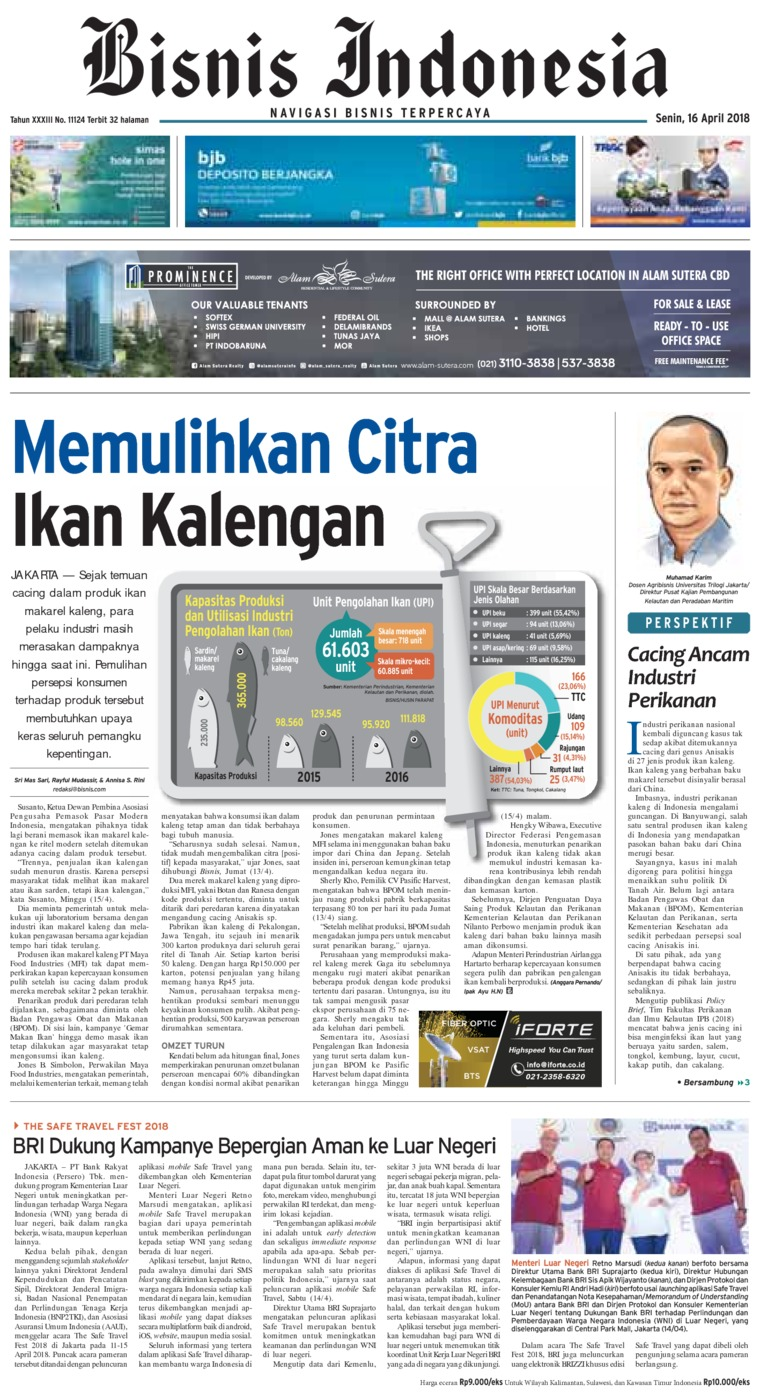 Koran Digital Bisnis Indonesia 16 April 2018