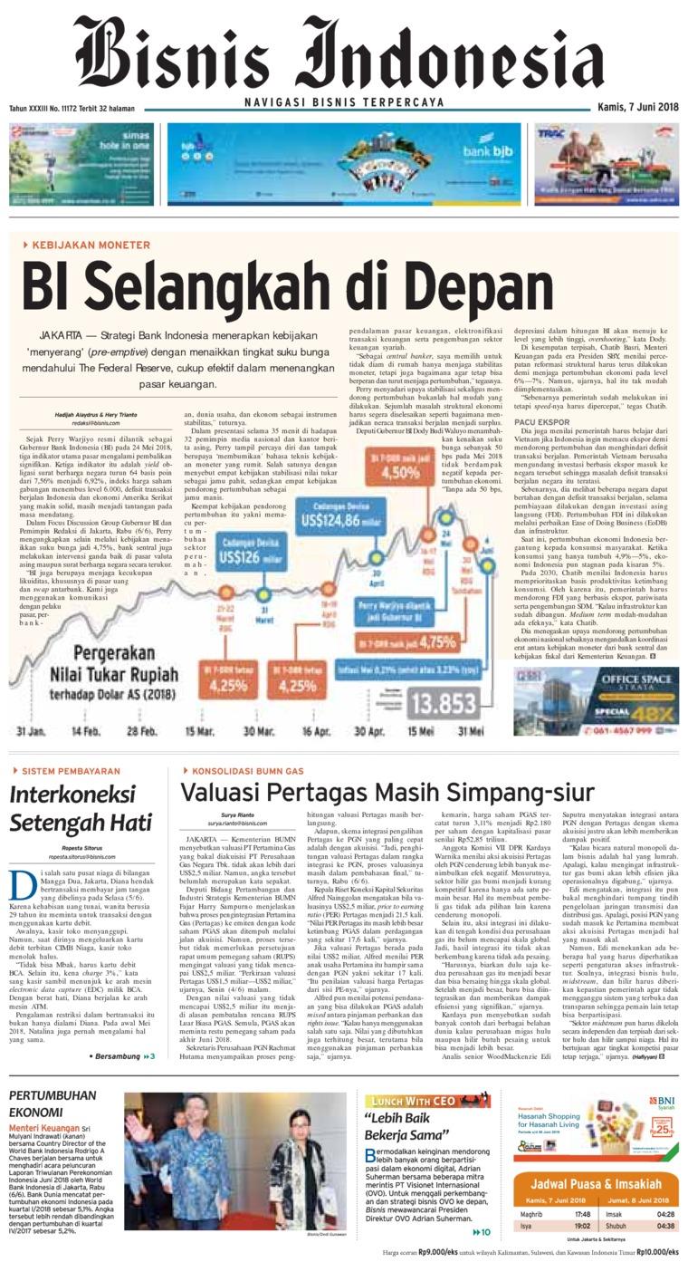 Bisnis Indonesia Digital Newspaper 07 June 2018