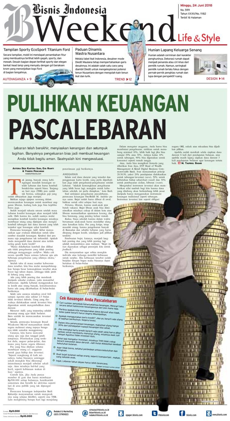 Koran Digital Bisnis Indonesia 24 Juni 2018