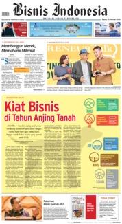 Cover Bisnis Indonesia 15 Februari 2018