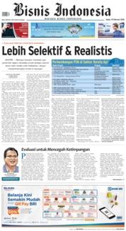 Cover Bisnis Indonesia 19 Februari 2018