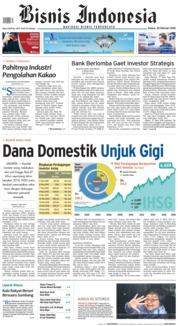 Cover Bisnis Indonesia 20 Februari 2018