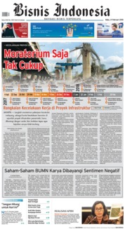 Cover Bisnis Indonesia 21 Februari 2018