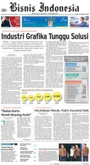 Cover Bisnis Indonesia 22 Februari 2018