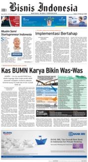 Cover Bisnis Indonesia 23 Februari 2018