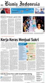 Cover Bisnis Indonesia 24 Februari 2018