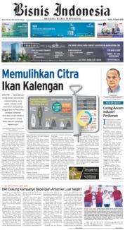 Cover Bisnis Indonesia 16 April 2018