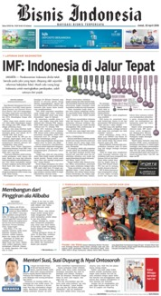 Cover Bisnis Indonesia 20 April 2018