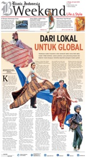 Cover Bisnis Indonesia 22 April 2018