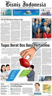 Cover Bisnis Indonesia 23 April 2018