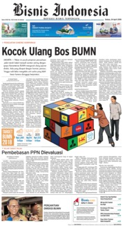 Cover Bisnis Indonesia 24 April 2018