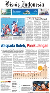 Cover Bisnis Indonesia 25 April 2018