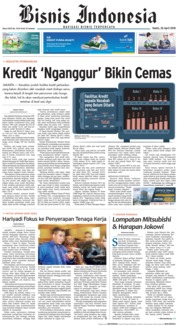 Cover Bisnis Indonesia 26 April 2018