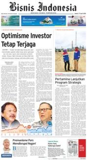 Cover Bisnis Indonesia 27 April 2018