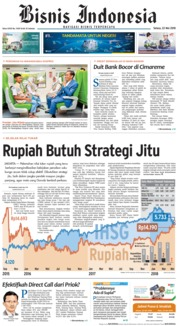 Cover Bisnis Indonesia 22 Mei 2018
