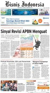 Cover Bisnis Indonesia 23 Mei 2018