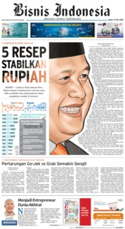Cover Bisnis Indonesia 25 Mei 2018