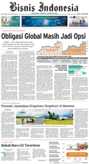 Bisnis Indonesia Cover 26 May 2018