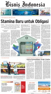Cover Bisnis Indonesia 31 Mei 2018