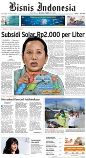 Cover Bisnis Indonesia 02 Juni 2018