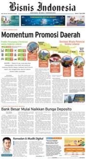 Cover Bisnis Indonesia 04 Juni 2018