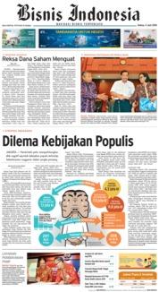 Cover Bisnis Indonesia 05 Juni 2018
