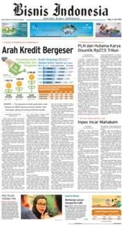 Cover Bisnis Indonesia 06 Juni 2018