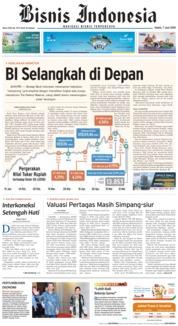 Cover Bisnis Indonesia 07 Juni 2018