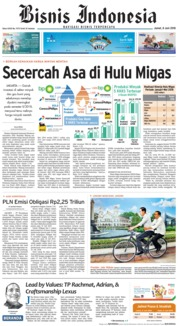 Cover Bisnis Indonesia 08 Juni 2018