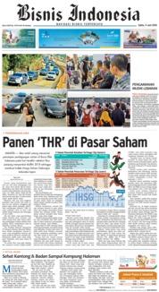 Cover Bisnis Indonesia 09 Juni 2018