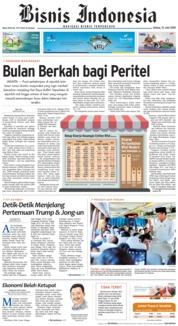 Cover Bisnis Indonesia 12 Juni 2018