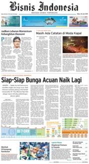 Cover Bisnis Indonesia 20 Juni 2018